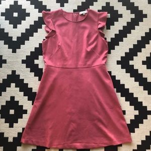 Loft Flutter Sleeve Dress Size 12